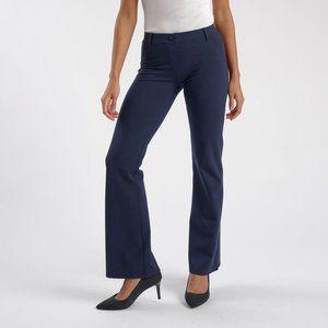 Betabrand Yoga Dress Pant Boot-Cut • Navy Blue 2XL